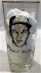 1957 MILWAUKEE BRAVES WORLD CHAMPS PLAYER GLASS- GIL RICE