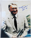 "MEL ALLEN ""HOF 78"" SIGNED COLOR PHOTO w/CAS COA"