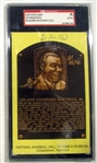 LEE MACPHAIL SIGNED HALL OF FAME POST CARD- SGC SLABBED & AUTHENTICATED