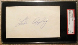LUKE APPLING SIGNED 3X5 INDEX CARD - SGC SLABBED & AUTHENTICAT
