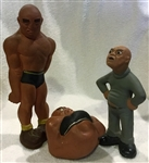 1941 RITTGERS WRESTLING STATUE SET OF 3