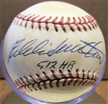 EDDIE MATHEWS 512 HRs SIGNED BASEBALL w/CAS COA