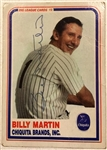 BILLY MARTIN SIGNED BASEBALL CARD w/JSA LOA