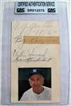 CASEY STENGEL - E. HOWARD & STURDIVANT SIGNED 1956 GOVERMENT POSTCARD - CAS AUTHENTICATED