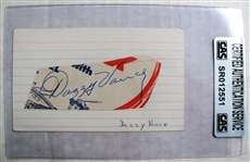 DAZZY VANCE SIGNED 3X5 INDEX CARD - CAS AUTHENTICATED