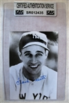 FRANK CROSETTI SIGNED PHOTO CARD - CAS AUTHENTICATED