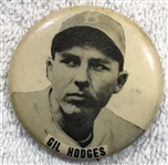 40s/ 50s GIL HODGES PM-10 PIN - BROOKLYN DODGERS