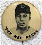 40s / 50s PEE WEE REESE PM-10 PIN - BROOKLYN DODGERS