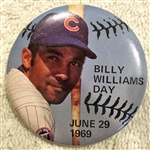 1969 BILLY WILLIAMS DAY PIN