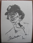 STEVE CARLTON SIGNED PHOTO w/CAS COA