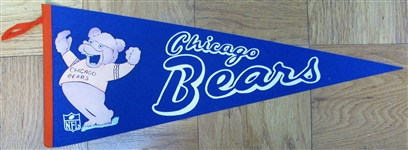 60s CHICAGO BEARS FOOTBALL PENNANT