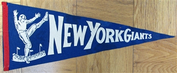 40s NEW YORK GIANTS FOOTBALL PENNANT