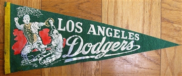 60s LOS ANGELES DODGERS BASEBALL PENNANT