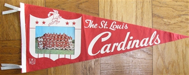60s ST LOUIS CARDINAL TEAM PHOTO FOOTBALL PENNANT