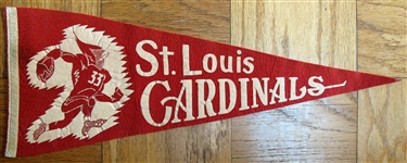 60s ST. LOUIS CARDINALS FOOTBALL PENNANT