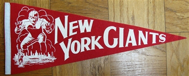 40s NEW YORK FOOTBALL GIANTS PENNANT