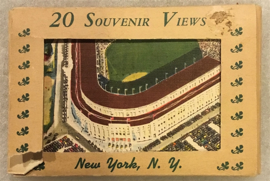 VINTAGE NEW YORK CITY VIEWS CARDS w/YANKEE STADIUM & POLO GROUNDS