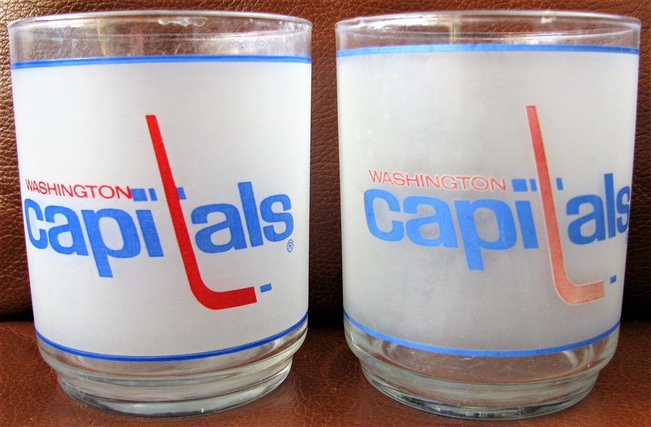 80's WASHINGTON CAPITALS HOCKEY GLASSES