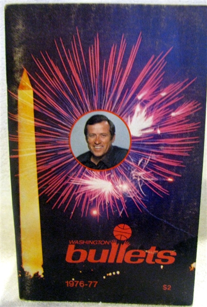 1976-77 WASHINGTON BULLETS MEDIA GUIDE / YEARBOOK