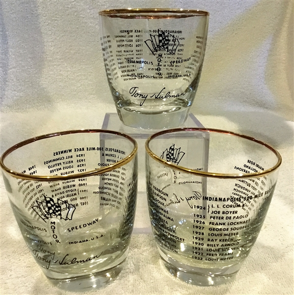 1958 INDIANAPOLIS 500 SOUVENIR GLASSES - 3