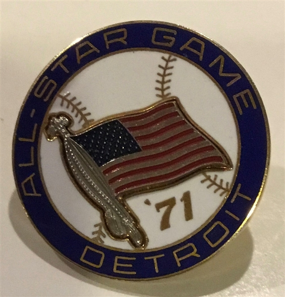 VINTAGE 1971 ALL-STAR GAME PRESS PIN @DETROIT