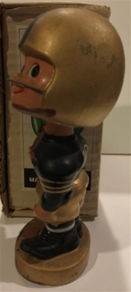 60'S PITTSBURGH STEELERS TOES-UP BOBBING HEAD w/BOX