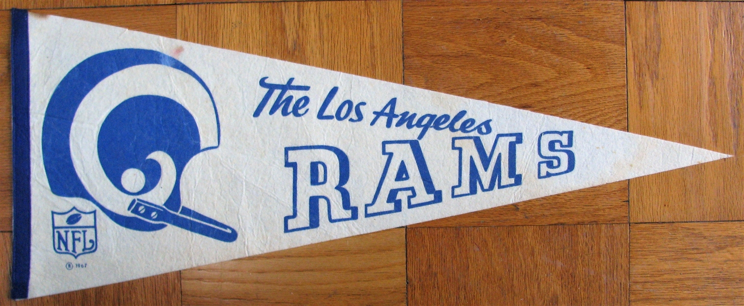 60's LOS ANGELES RAMS PENNANT