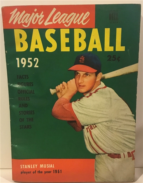 1952 DELL's MAJOR LEAGUE BASEBALL BOOKLET w/STAN MUSIAL COVER
